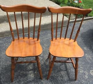 2  Solid Maple Chairs