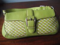 Handbag, Michael Kors Leather SummerGreen - MINT CONDITION - Made in Italy