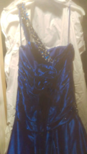 Sapphire blue Mori-Lee formal dress