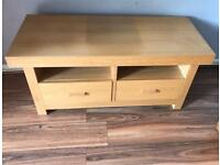 Solid chunky TV display unit