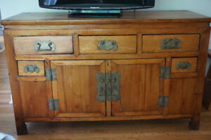 Unique antique Chinese cabinet/TV console-Priced to sell!