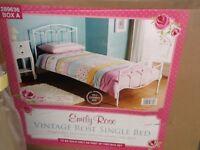 Single Bed Frame, Girls Emily Rose Bed.