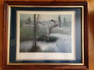 2 Signed Numbered Framed Prints by K Grove and D Rogers