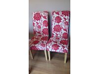 6 dining chairs in need of reupholstering