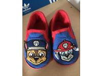 Paw patrol slippers size 5