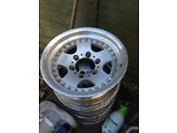 "6 stud 4x4 alloys 15"" fit ranger shogun frontera jap etc"