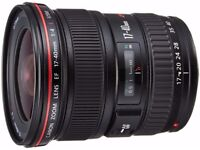 Canon Lens 17-40mm f/4.0 L USM Ultra-Wide Angle Zoom