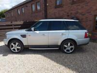 2007 LAND ROVER RANGE ROVER SPORT HSE 2.7TD V6 AUTO IN SILVER