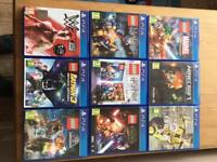 Sony PS4 console and nine games