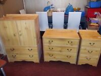 *SECOND HAND FURNITURE FOR SALE - GOOD CONDITION! (Wardrobe,Drawers,Dining table & chairs, TV unit*