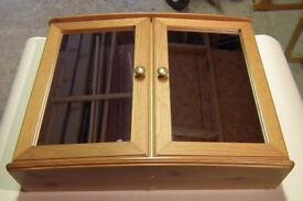 Bathroom wooden mirrored cabinet