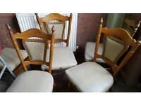 Set 4 nice chairs for refurb