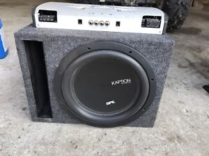 """12"""" sub and amp combo."""