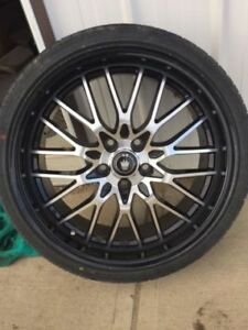 "19"" konig rims w/ 225/35/r19 tires"