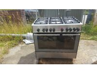 KENWOOD RANGE COOKER . DUEL FUEL. 5 BURNER. GOOD CLEAN CONDITION. BARGAIN £200.