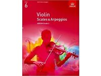 Violin Scales & Arpeggios, ABRSM Grade 6: from 2012