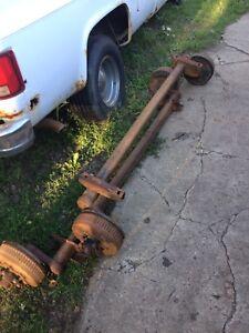 3500 pound torflex torsion axles with 5 tires