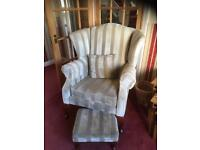 High back winged chairs (two would sell separately)