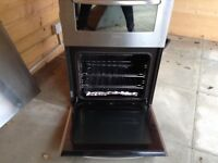 Electric double oven+ gas four ring hob+ extractor fan