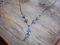 Pretty Blue Stone Necklace