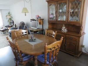 China Cabinet and table set