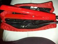 Original red ghd straightners and heat bag