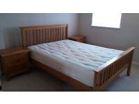 Bentalls Kingsize Bed, Mattress & 2 Bedside Cabinets