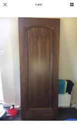 Solid Internal Doors With Walnut veneer.