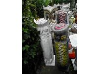 """30"""" + Hand crafted owl statue"""