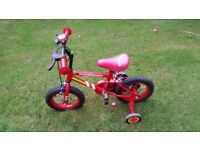 Fireman Sam bicycle with stabilisers