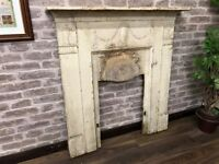 Vintage Tarnished Steel Fire Surround