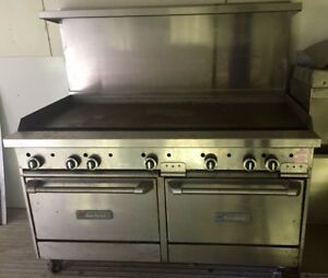 Garland double oven grill top