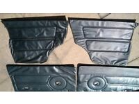 classic mini front and rear door cards