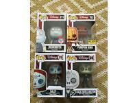 4 Funko pop vinyl nightmare before Christmas Disney rare nycc hot topic vaulted Day of dead