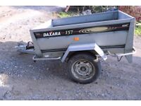 metal 5x3ft tipper trailer/ flat bed