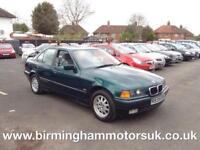 1997 (R Reg) BMW 3 SERIES 316i SE 4DR Saloon GREEN + LOW MILES