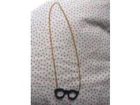 Cute glasses on a chain necklace