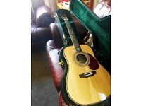 ELECTRO ACOUSTIC D45S TREE OF LIFE WITH MARTIN CASE