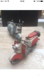 Tin plate model scooters