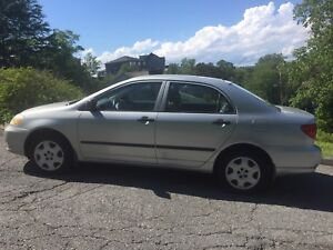 2003 Automatic Corolla: AC, New MVI, Low Km, Key-less