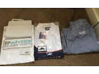 Chef whites in size medium. Brand new/ excellent condition