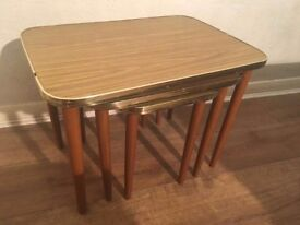 Retro Formica Nest Of 3 Tables