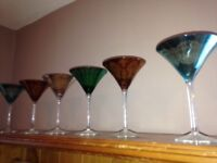 6x beautiful cocktail glasses