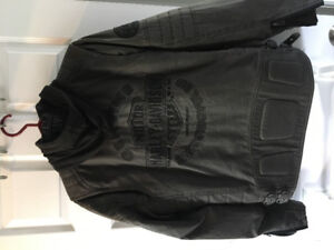Harley Leather Coat with insert like new
