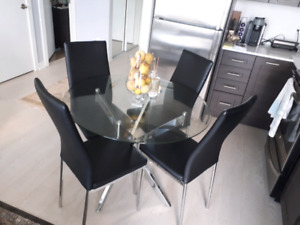 5 Piece Dining Table Chairs Set