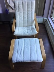 Ikea Poang chair & foot stool X 2 - $50 each