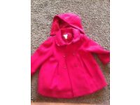 monsoon red coat age 2-3