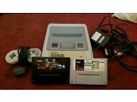 Super Nintendo snes 2 games one controller unboxed