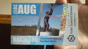 Fort Bus pass for 580 to Edmonton $80 or best offer