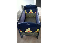 Travelcot includes carry bag make (Hauck) pooh bear ( can be used as playpen)